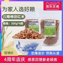 云南特ho元阳哈尼大me粗粮糙米红河红软米红米饭的米