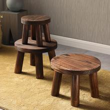 实木凳ho木凳子(小)板gi矮凳客厅(小)圆凳换鞋凳加厚宝宝木头椅子