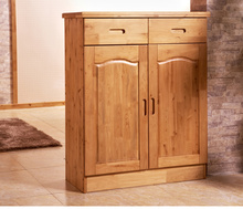 全实木ho柜家用柏木pi容量收纳柜玄关储物柜现代简约经济柜子