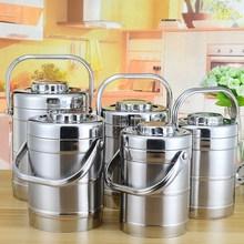 304ho锈钢真空保ta家用上班族12(小)时3多层便当盒携手提桶超长