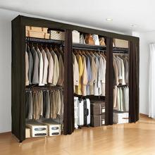 会生活ho易衣柜成的ti橱钢管布艺单的布柜组装简约现代经济型