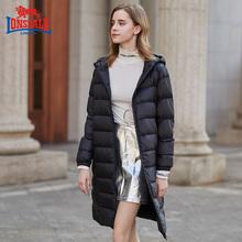 龙狮戴ho新式冬季中ti尚显瘦保暖外套234421557