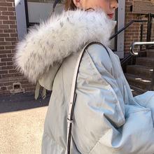 棉服女中长式2020新式潮加厚宽松棉ho15面包服el松外套冬季