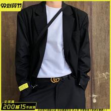 官方Ahodressmiknown暗黑高级垫肩西装外套男女休闲ins设计师品牌