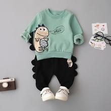 (小)童装hp童宝宝初春jf1-2-3岁男婴儿衣服套装洋气春秋冬韩款潮4