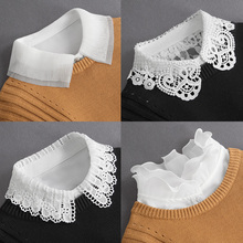 春秋冬hp毛衣装饰女vt领多功能衬衫假衣领白色衬衣假领