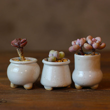 [hqhh]陶瓷迷你清仓盆田园手绘奶酪桃蛋拇