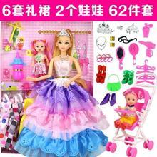 玩具9hs女孩4女宝ch-6女童宝宝套装周岁7公主8生日礼。