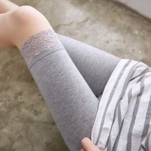 五分裤hs袜全棉时尚fj式。秋冬季中短裤打底裤短式长式安全裤