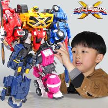 迷你特hs队x五炫机ww号变形玩具套装机器的五合体全套男孩弗特