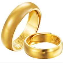 镀金开口光面男士黄金戒ht8女 越南ca戒指18k金戒指环首饰品