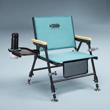 空钩悟ht2021式ca(小)钓椅多功能铝合金新型野钓折叠钓鱼椅凳子