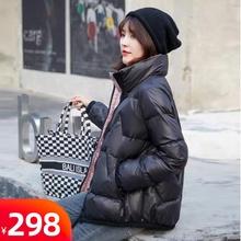 短式女hu020新式ou季时尚保暖欧洲站立领潮流高端白鸭绒