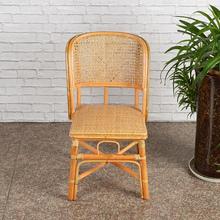 (小)藤椅hu靠背椅天然uo单的家用宝宝椅休闲椅阳台藤椅书房