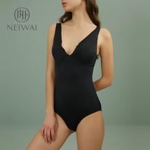 NEIhuAI内外深ou连体泳衣春夏运动女士泳池温泉泳装