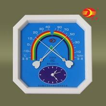 沈拓温hu计 湿度计ou内家用 温湿度表 带时钟 2080A