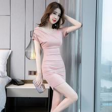 气质连hu裙女夏季2an新式时尚修身包臀显瘦紧身性感女装夏式裙子