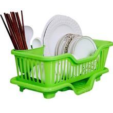 收纳篮hu槽置物架厨ze整理塑料放碗碟置物架子沥水架