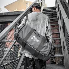 短途旅hu包男手提运ao包多功能手提训练包出差轻便潮流行旅袋