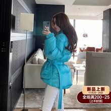 beahu熊熊屋收腰ks士面包服冬季2020新式轻薄短式羽绒服女外套