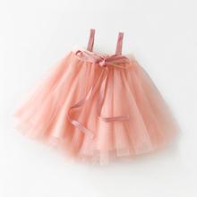 MARhu出口日本2ti秋冬宝宝抹胸纱裙女童公主tutu裙婴儿背带半身裙