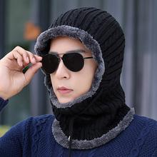 冬季护hu颈连体帽子ti寒冬帽保暖套头帽男士骑车防风帽包头帽