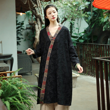 女改良hu服春装新式ng裙子中式女装唐装上衣民族风显瘦连衣裙