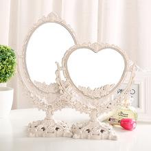 欧式双hu公主镜大号ng妆镜子桌面便携高清梳妆镜宿舍美容镜子