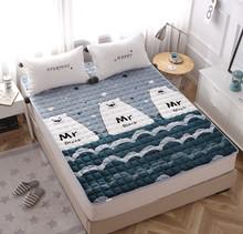 法兰绒hu季学生宿舍tu垫被褥子1.5m榻榻米1.8米折叠保暖