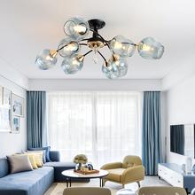 现代简hu吸顶灯LEpn创意现代主卧室餐厅清新美式灯具