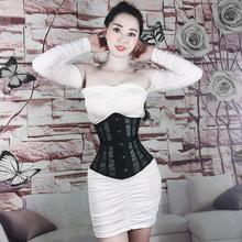 夏季薄hu无痕蕾丝隐ua束腰带上衣夏天超薄式塑身衣收神器