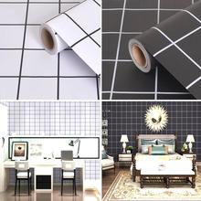 墙纸自hu北欧墙贴高ua厨房贴纸防水浴室卧室客厅墙面壁纸