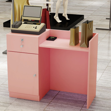 简约(小)hu装店收银台ua台放电脑桌超市转角包邮收