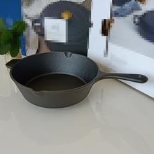外贸铸hu平底煎锅加rd层不粘锅生铁锅家用烙饼煎蛋锅电磁炉通