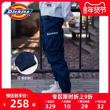 Dickies字母印花男友hu10多袋束rd秋冬新式情侣工装裤7069