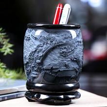 书桌笔筒复古hu国风创意北rd简约办公室桌面摆件实用定制礼品