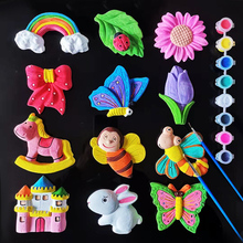 宝宝dhuy益智玩具rd胚涂色石膏娃娃涂鸦绘画幼儿园创意手工制