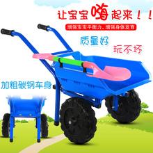 包邮仿hu工程车大号rd童沙滩(小)推车双轮宝宝玩具推土车2-6岁