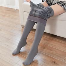 冬季加hu女灰色保暖un裤袜连体美腿袜子连脚踩脚