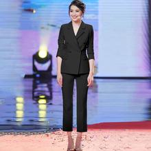 职业套hu女2020un式正装女(小)西装时尚气质商务修身西服套装女