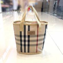 韩国新hwins大容kk手提袋布防水便携饭盒时尚妈咪包洗澡浴包