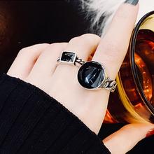 韩款个hw时尚套装组kk戒指女网红复古气质链条指环闺蜜关节戒