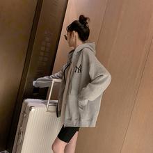 连帽卫hx女2020ax新式韩款宽松bf休闲外套百搭学生秋季上衣潮