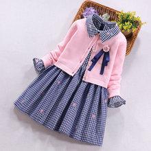 女童毛hx裙两件套洋ax孩公主裙子套装春秋新式宝宝长袖连衣裙