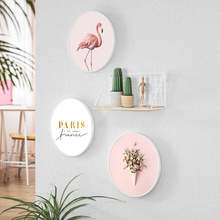 创意壁hyins风墙en装饰品(小)挂件墙壁卧室房间墙上花铁艺墙饰