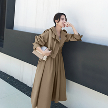 【反季hy价】风衣女wl(小)个子初秋外套女韩款薄式卡其色大衣