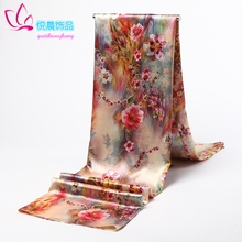 杭州丝hy围巾丝巾绸et超长式披肩印花女士四季秋冬巾