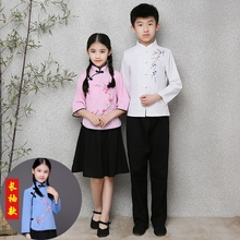 宝宝民hy学生装五四jw中(小)学生幼儿园合唱毕业照朗诵演出服装