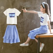 女童夏hy中大童韩款jw020新式宝宝装网红时尚女孩两件套裙潮衣