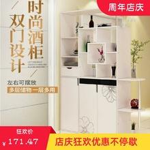 。玄关hy鞋柜一体双wk柜办公室装饰柜酒柜隔断柜带玻璃门书柜